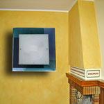 ART. 1070  DECORO LEO BLU/AZZURRO - DIAMETRI -45*45 / 59*59