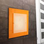 ART. 1071  DECORO LEO ARANCIO - DIAMETRI -45*45 / 59*59