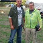 Unser 1. Vorstand Michael Wollbaum mit Vereinsurgestein Urs Bergmann (rechts)