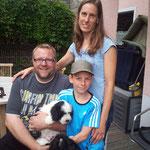 Familie Schaumburg mit Aaron, der jetzt Balu heißt