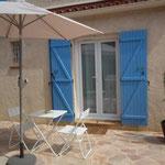 Entrée et terrasse - Chambre Santoline