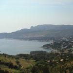 Vue de Cassis par la route des crètes