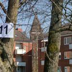 Postkartenansicht von Neugraben mit Startnummer