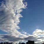 大きな雲です。形がね、面白いんです。