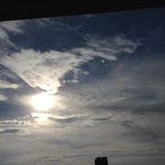 彩雲1 太陽の上に虹が現れています。