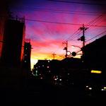 すごい夕焼け(その2/同じ日、同じ場所です。)
