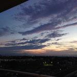 夕日が沈みました。