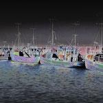 Fischerboote auf Læsø, Kattegat. Impressionistische Ansicht.