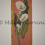 CALLE - affresco a secco su tela con malta e terre naturali colorate - 20x50 cm