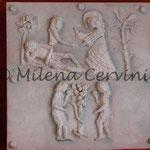 CREAZIONE - cartapesta su legno - colore tempera  - 45x45 cm