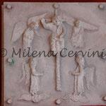 LA GLORIA DI DIO - cartapesta su legno - colore tempera - 45x45 cm