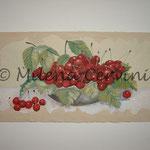 CILIEGIE  - affresco a secco su tela con malta e terre naturali colorate - 25x50cm