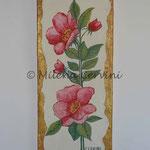 ROSE CANINE - affresco a secco su tela con malta e terre naturali colorate - 20x50 cm
