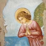 ANGELO DEL MARE - affresco a secco su tela con malta e terre naturali colorate - 70x50 cm