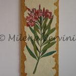 OLEANDRI - affresco a secco su tela con malta e terre naturali colorate - 20x50 cm