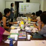 総合カルチャースペースjijiにてのパステルアート教室