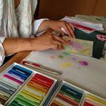 自宅サロンならお子さんの目の届くところでパステルアートが楽しめます。