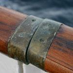Detail eines Postschiffes auf den Lofoten