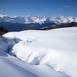 hike with snow shoes around the Wasenalp, Wallis, Switzerland