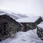 Zermatt - walk in the snow above the town
