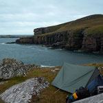 """our tent site, first night... """"civilisation"""" in sight"""