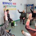 """L'activité """"Gym douce"""" réalisée par Maxime de l' Association SIEL BLEU"""