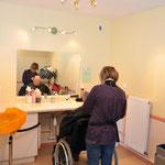 Le salon de coiffure et d'esthétique