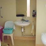 salle d'eau,douche et wc de la chambre