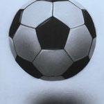 Ball, A4, Acryl auf Papier