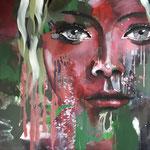 The Face 2, 100x100 cm, Acrylmischtechnik