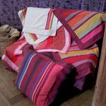 Création de housses sur mesure, recouvrement de coussins, Stéphanie Lauchas, tapissier décorateur en Gironde