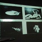 4枚のイメージから2枚を選んでその2枚をつなげるシナリオを考える