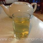 茶水 - ein kostenloses oder fast kostenloses Getränk in vielen einfachen Restaurants.
