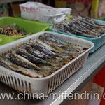 Getrockneter (oder gebratener?) Fisch.