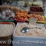 Sie machen sich keine Vorstellung davon, wie viele verschiedene Größen oder Sorten von getrockneten Shrimps es auf einem Markt gibt.