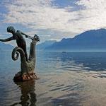 Herbststimmung am Genfersee bei Vevey, 20. 10 .2012