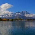 Herbststimmung am Genfersee bei Villeneuve 24. 10. 2012