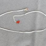2ウェイビーズブレス 0481 ¥3,600 透明と白のビーズ使用:一連でネックレス、二重に回してブレスで使えます