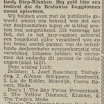 THE DYNAMITE STRINGS: Dagblad De Stem 15-3-1963
