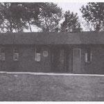 Linker barak op Kamp Wouw. Hierin verbleef de fam. De Nijs van 21-1-1951 tot 17-11-1951