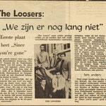 """THE LOSERS: Brabants Nieuwsblad 1966 (met karakteristieke fout, de groepsnaam met dubbel """"oo"""" )"""