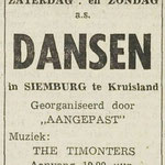 THE TIMONTERS: Dagblad de Stem 16-8-1966