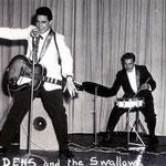 Jack Dens & The Swallows (1961) vlnr: Nico Takarindingan (basgit.) - Jack de Nijs (slaggit., zang) - Henk Voorheijen (drums) - Gerrit 'Nono' Gillet (sologit.)