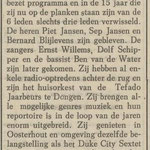 Uit de 'Echo van het Zuiden' 1 augustus 1966 i.v.m. optreden in het Lido te Waalwijk.