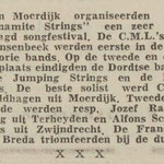 THE DYNAMITE STRINGS: Dagblad de Stem 12-1-1963
