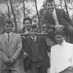 THE HALCONS vlnr: Roy Stubbs, Frans Horn, Ed Brodie, Les Brodie, Henk Beijen (witte trui)