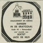 Sextet Jack de Nijs: Dagblad De Stem 5 september 1973