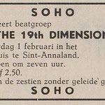 19th. DIMENSION: Eendrachtbode 30-1-1969