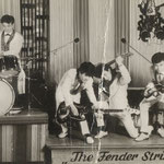 THE FENDER STRINGS in de Havana Bar, Kitzingen am Main (1962) vlnr: Vic Jut - Paul Legand - Freddy Muniaerts - Eugene Lambertus