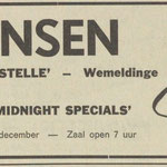 THE MIDNIGHT SPECIALS: De Scheldebode 18-10-1970